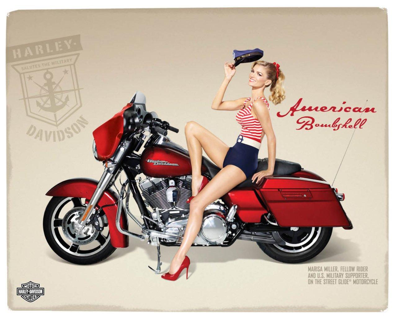 Harley Davidson: Marisa Miller