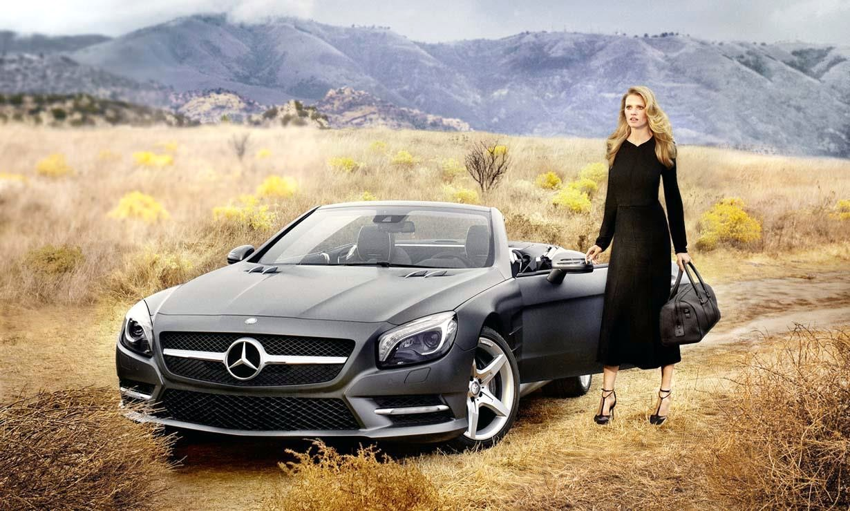 photo of Lara Stone  Mercedes SL Roadster - car